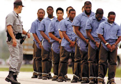Black Men Chained