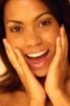 Surprised Woman Smiling
